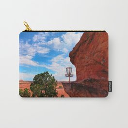 Disc Golf Basket in Moab Utah Carry-All Pouch