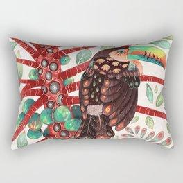 Toucan In A Fruit Tree Rectangular Pillow