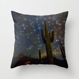 A Starry Desert Evening Throw Pillow