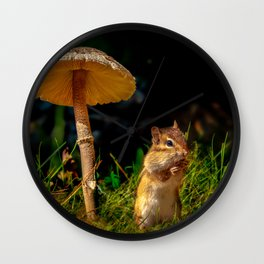 Under The Shady Mushroom Wall Clock
