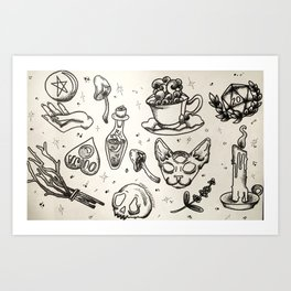 Witchy Flash Art Print