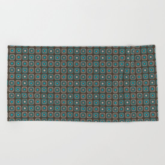 Pattern blue azul 6 Beach Towel