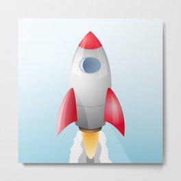 Space Rocket Metal Print