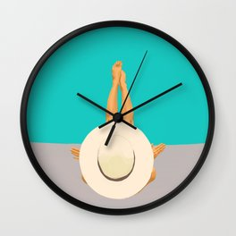 At The Beach Wall Clock