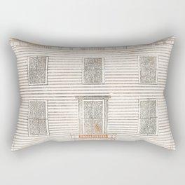 Amsterdam house on the Amstel by Johan Teyler (1648 -1709) Rectangular Pillow