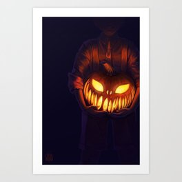 Jack'o'Lantern (#Drawlloween2016 Series) Art Print