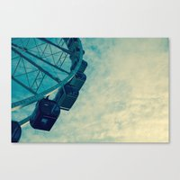 ferris wheel Canvas Prints featuring Ferris Wheel by Tracy Wong