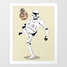 Droid Soccer Art Print