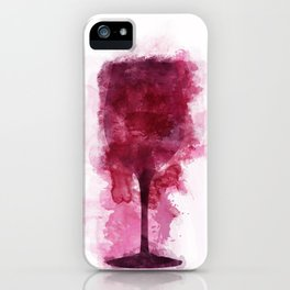 Wine Glass Watercolor iPhone Case