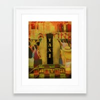 taxi driver Framed Art Prints featuring Taxi Driver by David Amblard