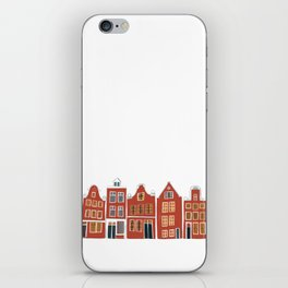 Sweet Amsterdam Canal Houses Row Dutch Red  iPhone Skin