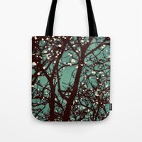 lights Tote Bags featuring Night Lights by elle moss