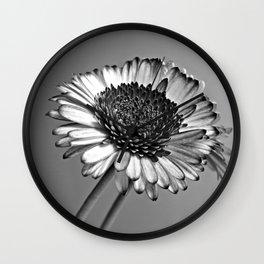Monochrome Gerbera Wall Clock