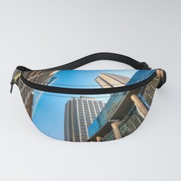 Low angle view perspective on Pitt Street in Sydney Fanny Pack