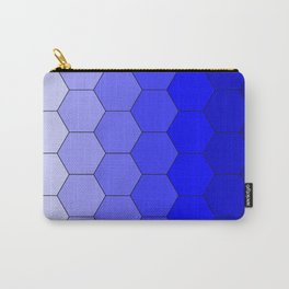 Hexagons (Blue) Carry-All Pouch