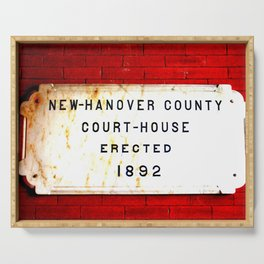 Courthouse Sign Serving Tray