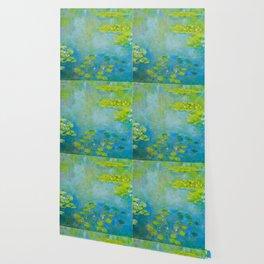 Claude Monet Impressionist Landscape Oil Painting Water Lilies Wallpaper