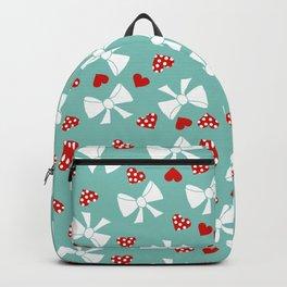 Lace gift wrap aqua Backpack