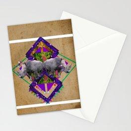 Rhinoceroses  Stationery Cards