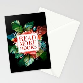 Read More Books - Black Stationery Cards