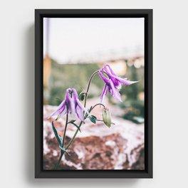 Fairy Flowers Framed Canvas
