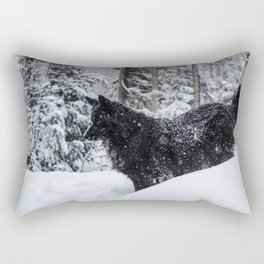 Layla in the Snow Rectangular Pillow