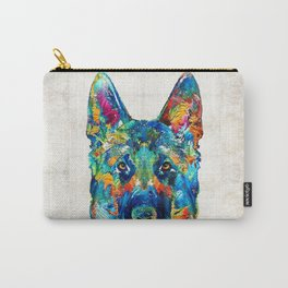 Colorful German Shepherd Dog Art By Sharon Cummings Carry-All Pouch