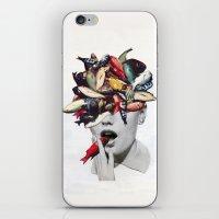 eugenia loli iPhone & iPod Skins featuring Ωmega-3 by Eugenia Loli