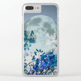 Super Moon v2 - Blue #buyart Clear iPhone Case