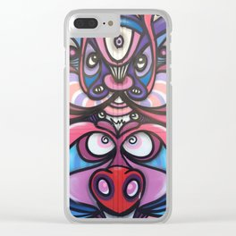 Surreal Abstract Graffiti Street Art Clear iPhone Case