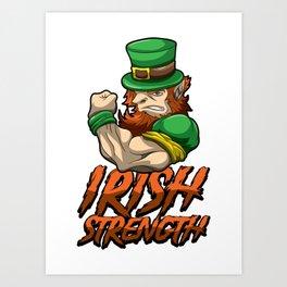 Fitness Leprechaun - Irish Strenght - Goblin Gym Art Print