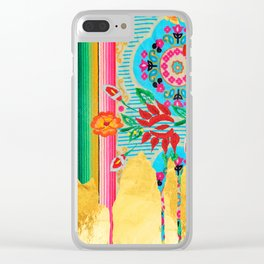 Gold Dipped Boho Serape Dream Clear iPhone Case