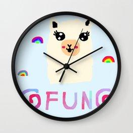 llama fun! Wall Clock