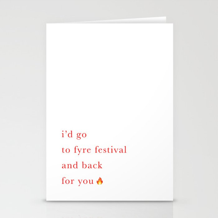 Fyre Festival Valentine's Day Card Stationery Cards