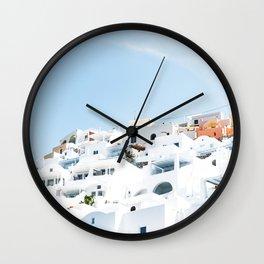 Lost in Santorini Greece Wall Clock