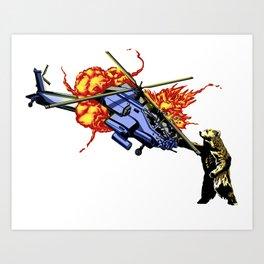 Bear vs. Apache Art Print