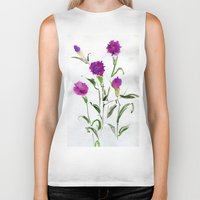 freud Biker Tanks featuring You Know What Freud Said About Carnations by Kate Havekost Fine Art