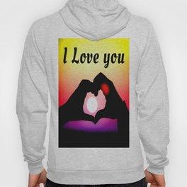 I Love You In Pop-art Hoody