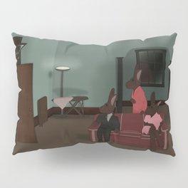 Bunnies - Who's at the Door? Pillow Sham