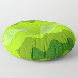 Retro Curves Eat Your Greens Floor Pillow