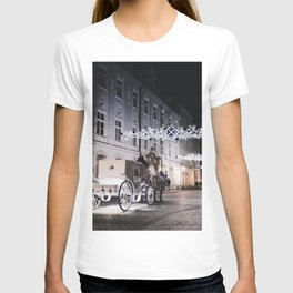 Winter Horse Carriage Ride (Color) T-shirt