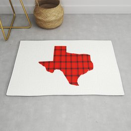Texas State Shape: Red Rug
