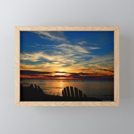 Peace and Relaxation at the Sea shore Framed Mini Art Print
