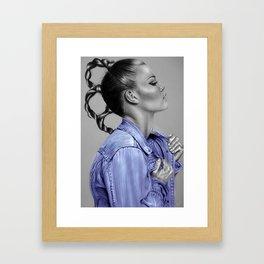 + Blue Jeans + Framed Art Print