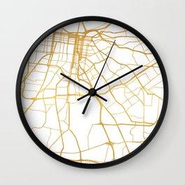 LOUISVILLE KENTUCKY CITY STREET MAP ART Wall Clock