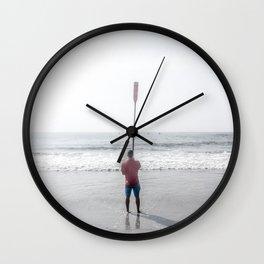 Raised Oar Wall Clock