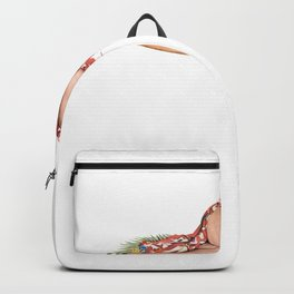 Nostalgic Pin Up Girls Blond Woman Hawaiian Bachelor Party Pinup Girl Backpack
