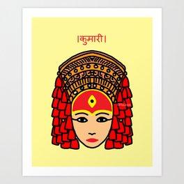 The Living Goddess Art Print