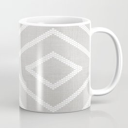 Stitch Diamond Tribal Print in Grey Coffee Mug