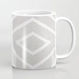 Stitch Diamond Tribal Print in Grey Coffee Mug